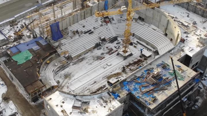 На стройплощадке нового Дворца спорта на Молодогвардейской «потеряли» рабочих