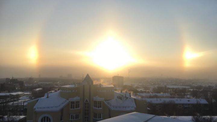 В небе над Новосибирском вспыхнуло гало