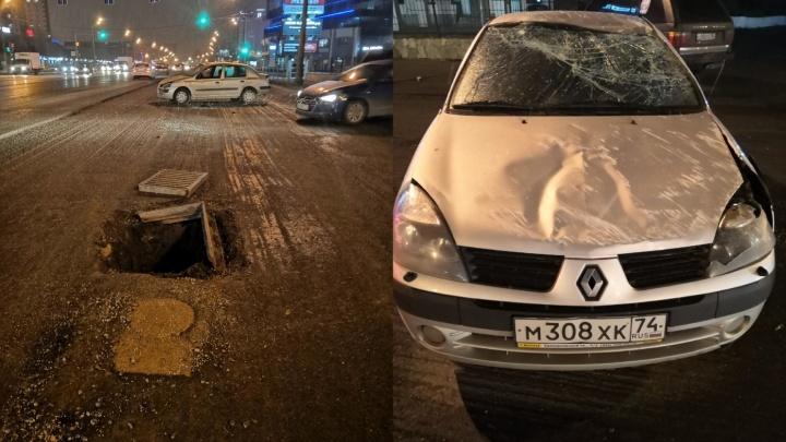Челябинские дорожники ответили на претензии автомобилистки, попавшей в больницу из-за открытого люка