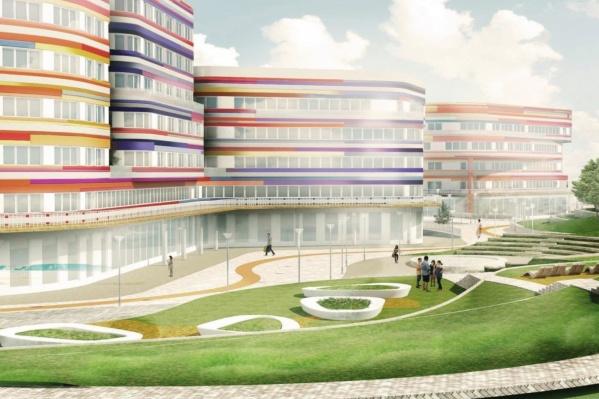 Новый комплекс зданий рассчитан на 1000 мест