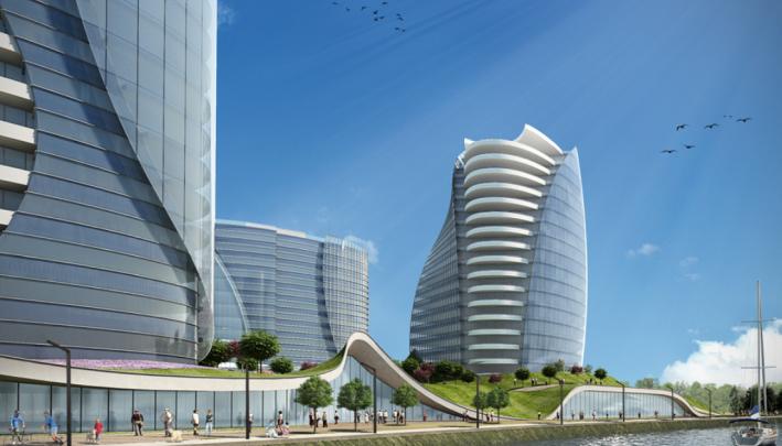 Концепт-дизайн башен, которые могут появиться на берегу Туры, удалили с сайта итальянской компании