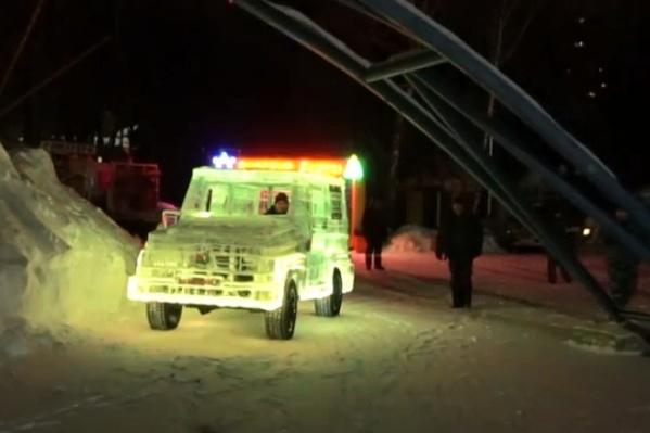 Для создания автомобиля понадобилось 6 тонн льда