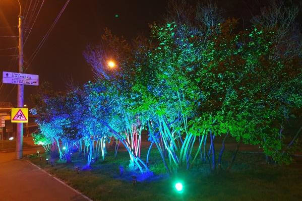 Так теперь выглядит ночью перекрёсток у Свободного