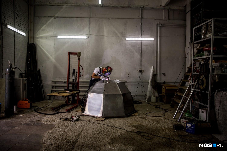 В мастерской «Сибирского банного чана»