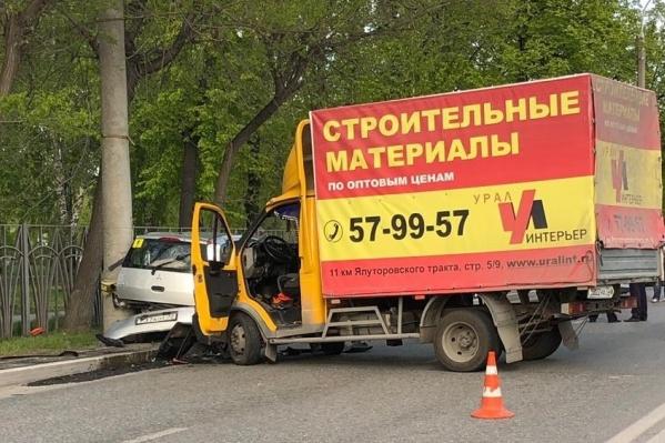 Авария произошла вчера около пяти часов вечера