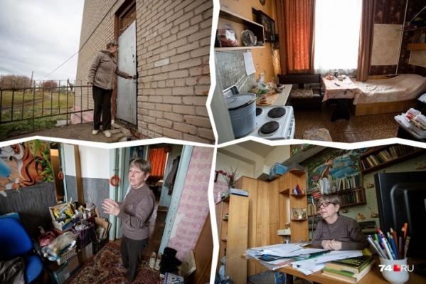 Учительница Елена Михальченко должна выехать из школьной подсобки, но не хочет этого делать