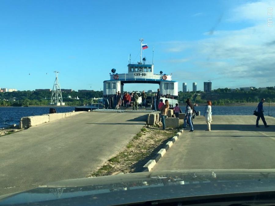 Паромная переправа Нижний Новгород— Бор начала свою работу