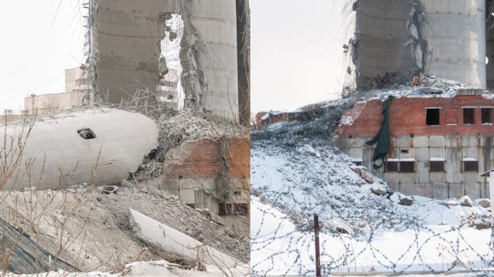 Взрывники разобрали ствол екатеринбургской телебашни, упавший на земляную подушку
