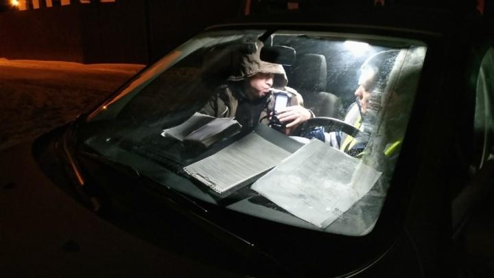 В Курганской области водителей массово проверяют на нетрезвое вождение