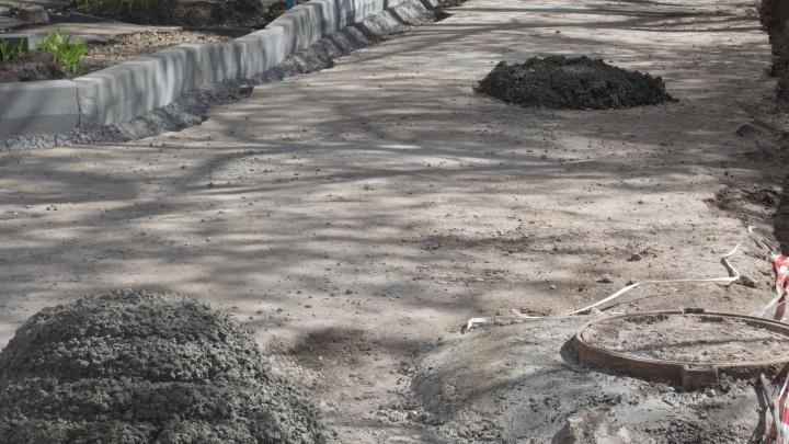 Главу новосибирской фирмы заподозрили в махинациях при благоустройстве пешеходной зоны