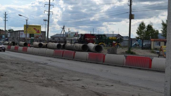 В Кургане до конца августа закончат капитальный ремонт коллектора на Омской