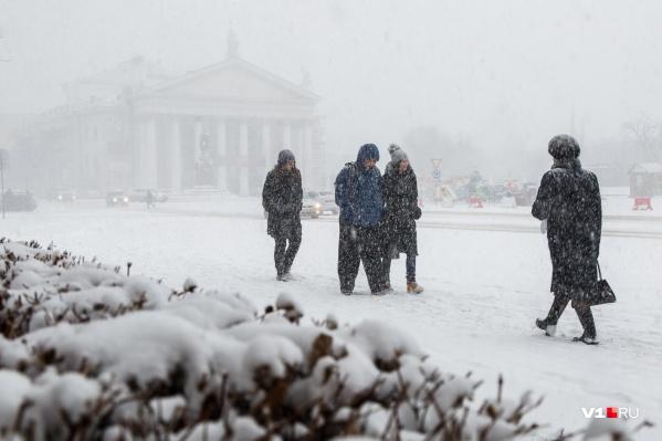 Волгоград оказался во власти снега