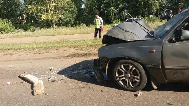 Догнал дорожный каток: автолюбитель из Башкирии не рассчитал скорость