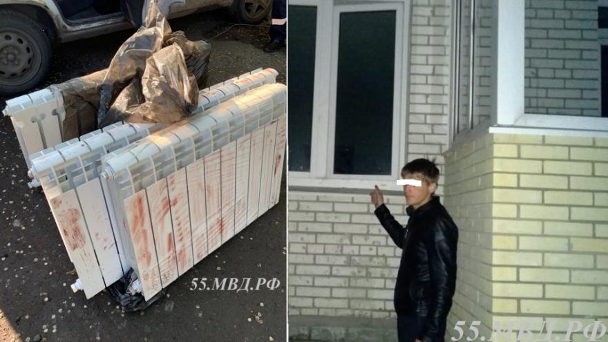 Омич украл из новостройки батареи и пытался скрыться от полиции, выпрыгнув из таксина ходу