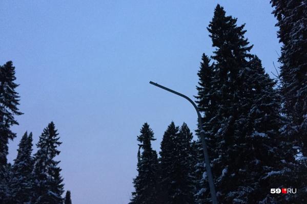 Скоро так будут выглядеть все 45 фонарей на лыжной трассе