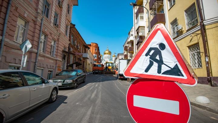 Из-за прокладки ливневки на Малиновского продлили ограничение движения транспорта