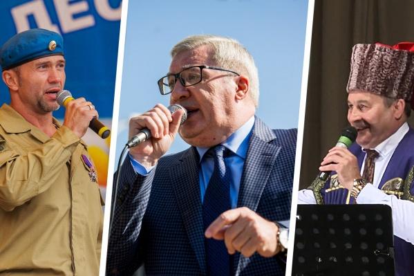 Евгений Яковенко, Виктор Толоконский и Сергей Бондаренко— самые успешные певцы среди новосибирских политиков