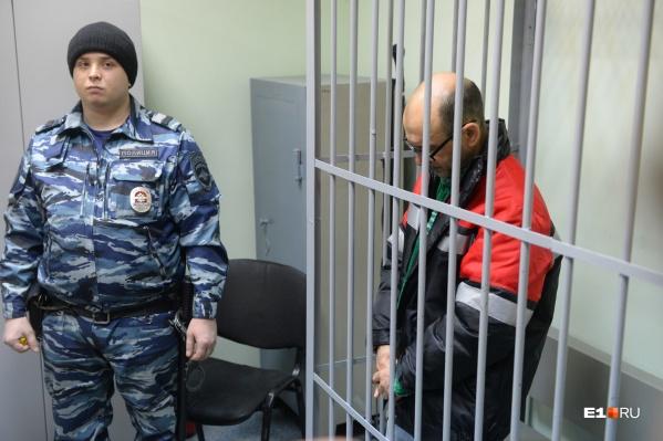 Владимир Пузырев в Ленинском районном суде. Процесс вели в закрытом от прессы режиме