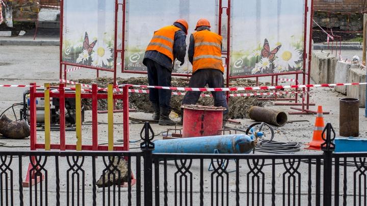 Красный проспект перекопают из-за ремонта теплотрассы