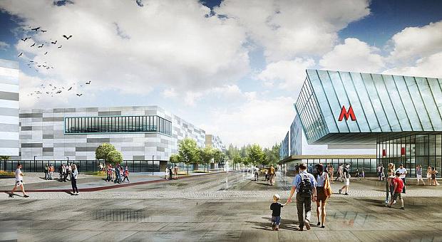 Один из предложенных вариантов проекта территории у нового ЛДС