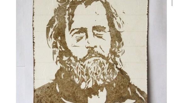 """""""Цена символическая"""": Слава ПТРК продаст на аукционе портрет бездомного, сделанный уральской грязью"""