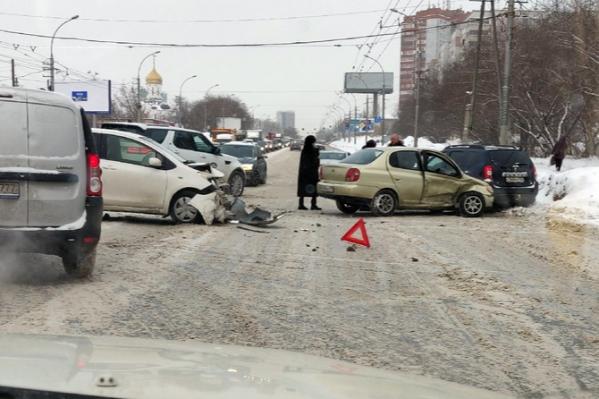 Авария произошла около 10 часов утра