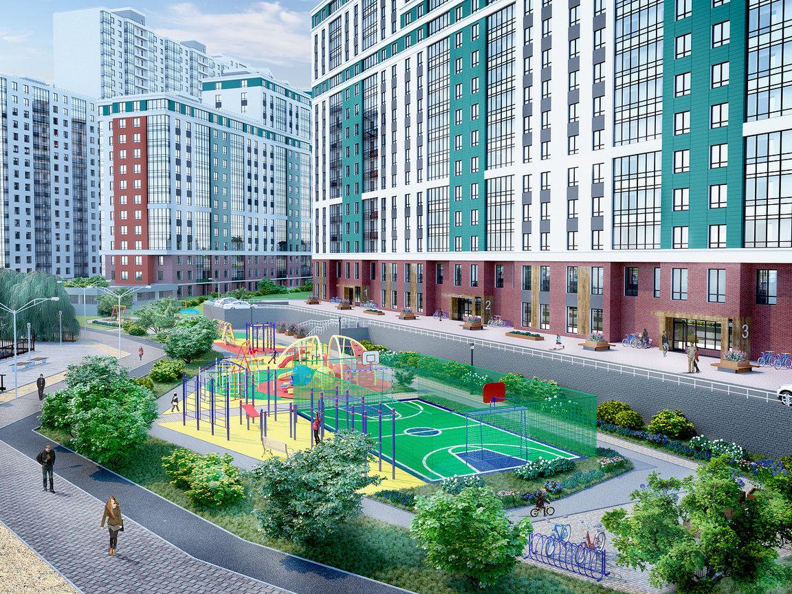 На первых этажах домов разместятся магазины, салоны красоты, медицинские центры и другие объекты инфраструктуры