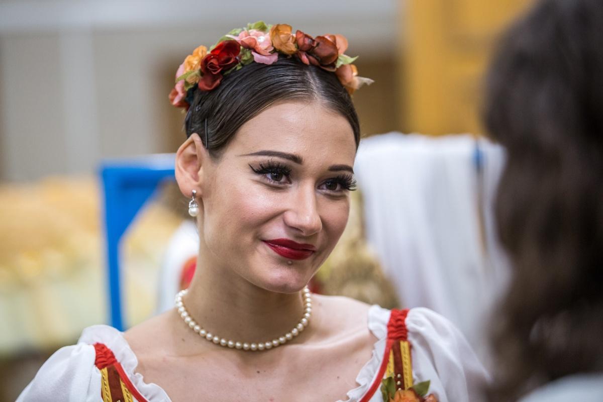 Анастасия Соболева выступает в Михайловском театре