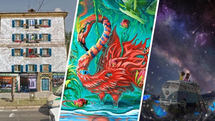 Мадонна и фламинго: художники рассказали, на каких домах в Челябинске этим летом появятся граффити