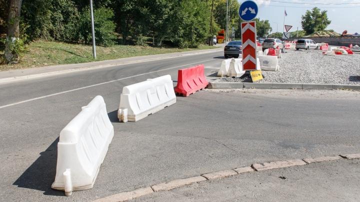 В Волгограде сделали бетонными ограждения развязки на Нулевой Продольной