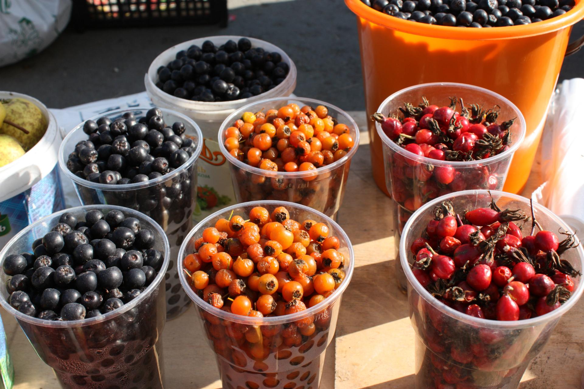 Еще одна ягода полезная для здоровья — боярка. Она особенно полезна людям с сердечно-сосудистыми заболеваниями.&nbsp;<br>— Чай с ней заварите, вкусно будет, — рекомендуют продавцы