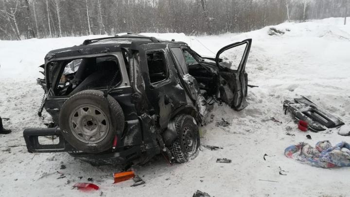 Фура столкнулась с двумя встречными машинами на трассе под Новосибирском: один человек пострадал