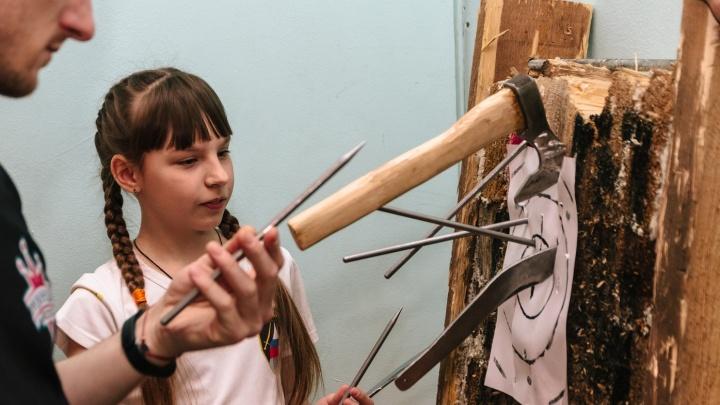 11-летнюю метательницу ножей из Самары покажут по Первому каналу