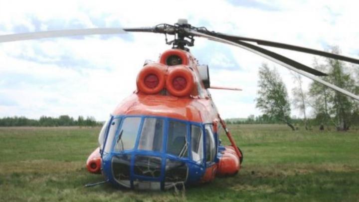 Комиссия назвала причину аварийной посадки вертолёта под Омском