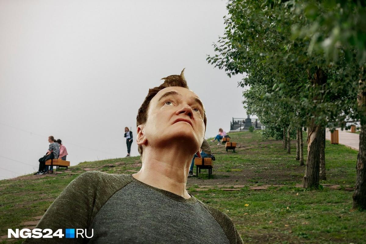 В Красноярске есть такое явление, как «Черное небо». Тарантино явно ему удивлен