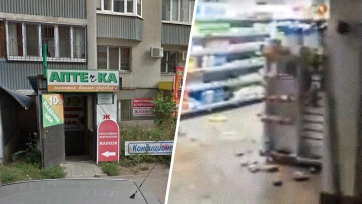 «С камнем на верёвке»: буйный самарец разгромил аптеку на Дыбенко