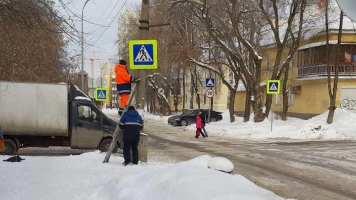 На «проклятом» перекрестке Эльмаша, где погиб отец двоих детей, сделали пешеходные переходы