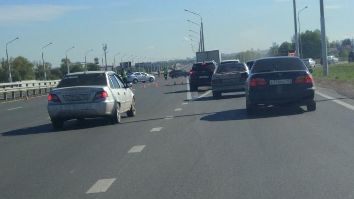 Осторожно, хода нет: в Уфе перекрыли объездную затонскую трассу