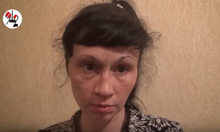 Елена Каштанова во время недавнего задержания волонтерами фонда «Город без наркотиков»