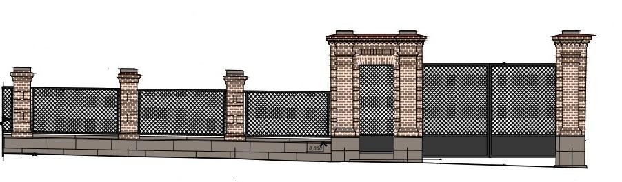 Архитекторы предлагают восстановить сетчатый рисунок решетки на воротах