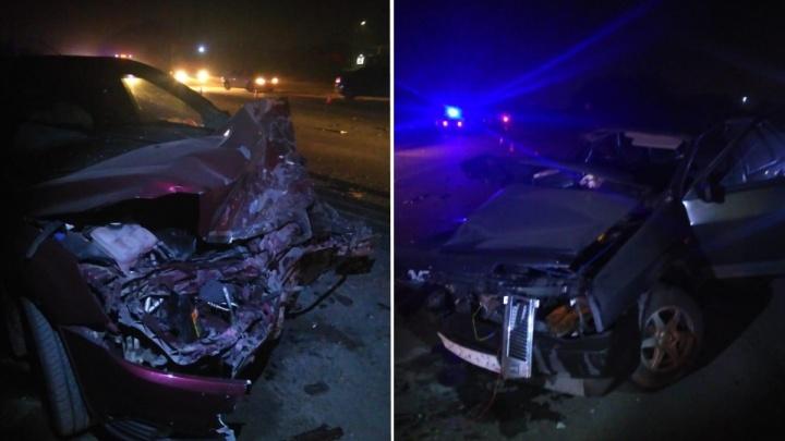 На Красноярском тракте водитель «девятки» погиб после выезда на «встречку»
