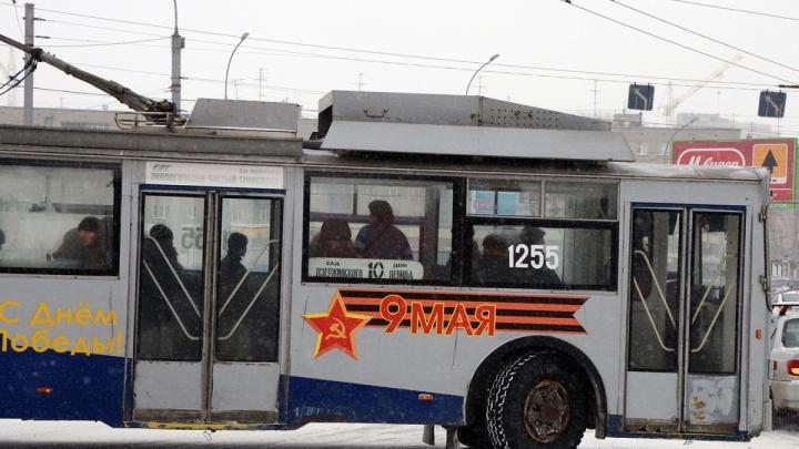 Троллейбус №10 пустили на Красный проспект — он меняет маршрут