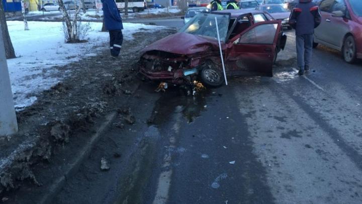 В Челябинске «десятка» не поделила дорогу с Audi