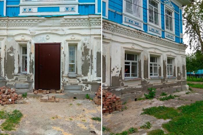 На левой части снимка —железная дверь, которую поставил местный житель