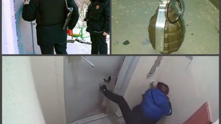 В Уфе пьяный мужчина угрожал соседям гранатой