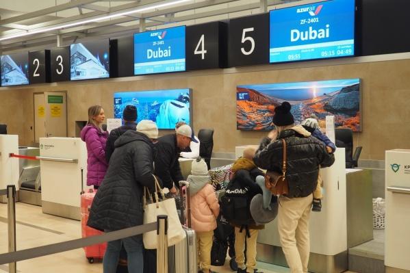 Первый рейс в Дубай улетел в 5:55