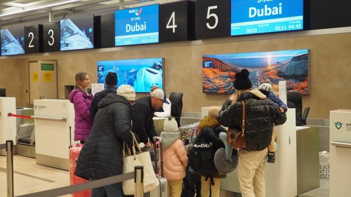 Первый за 4 года прямой рейс в Дубай улетел из Красноярска при полной загрузке