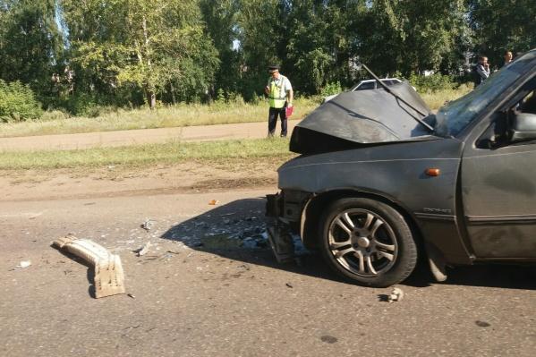 Машине сильно досталось, состояние водителя — неизвестно