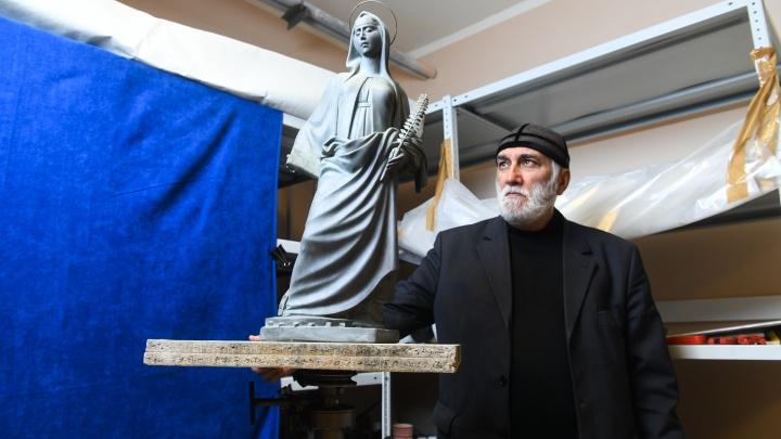 «Я создал идеальный образ»: уральский скульптор показал свой вариант памятника святой Екатерине