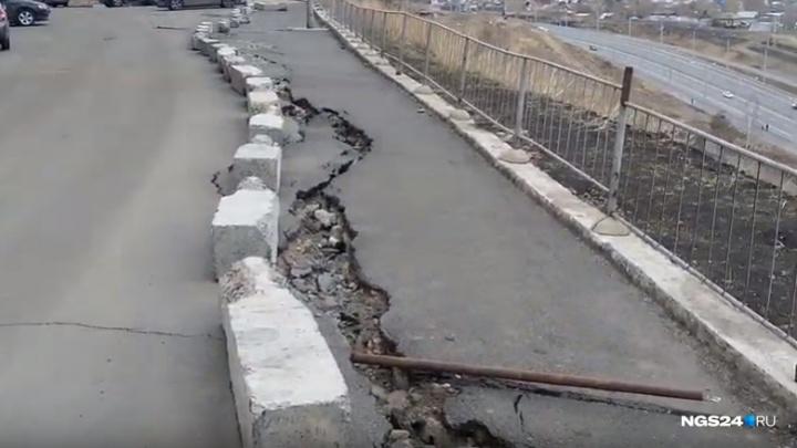 Прокуратура заставила чиновников следить за опасным склоном в Академгородке после новостей NGS24